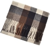 Gant Lambswool Checked Scarf Brown