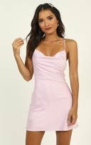 Showpo Before Your Time Dress in lilac satin - 12 (L) The Pastel Edit