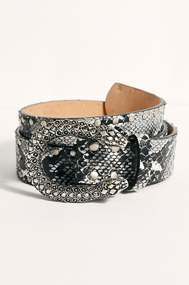 Leather Rock Viper Studded Belt
