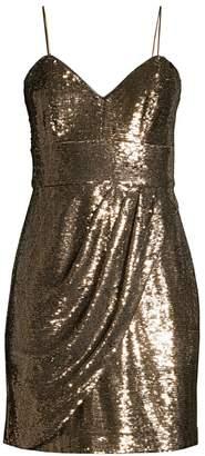 Parker Black Guayana Metallic Mini Dress