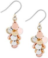 Lucky Brand Two-Tone Cluster Dangle Drop Earrings