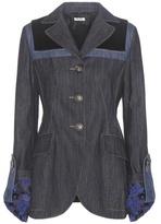 Miu Miu Velvet-trimmed denim jacket