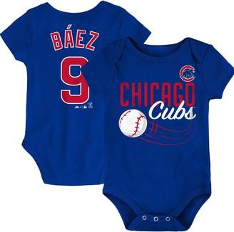 Majestic Newborn & Infant Javier Baez Royal Chicago Cubs Baby Slugger Name & Number Bodysuit
