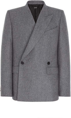 Givenchy Asymmetric Wool Double-Breasted Jacket Size: 48