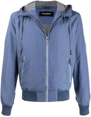 Dolce & Gabbana Hooded Zip-Up Jacket
