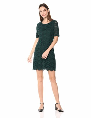 Lark & Ro Women's Half Sleeve Lace Crewneck Sheath Dress