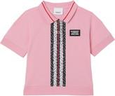 Burberry Rebecca Monogram Stripe Pique Polo Shirt