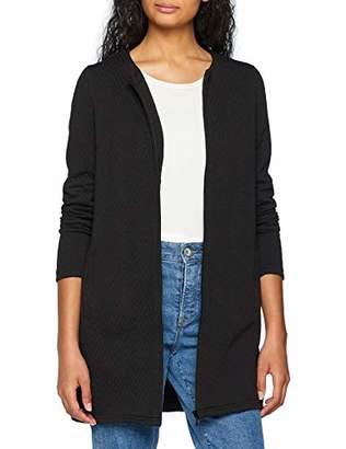 Vero Moda Women's Vmmia Structure Long Zip Blazer Noos Cardigan, Black, 8 (Size: X-Small)