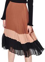 Miss Selfridge Colorblock Pleated Skirt