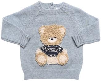 Il Gufo Bear Intarsia Virgin Wool Knit Sweater