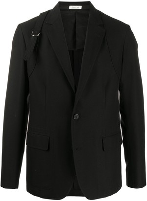 Alexander McQueen Buckle Strap Single-Breasted Blazer