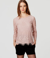 LOFT Long Sleeve Lace Top