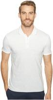 Calvin Klein Liquid Jersey Two-Tone Ombre Polo Men's Short Sleeve Pullover