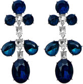 One Kings Lane Vintage KJL Blue Rhinestone Earrings