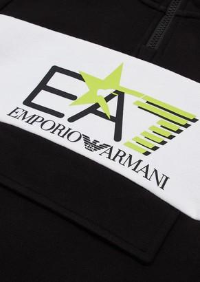 Ea7 Hooded Junior Sweatshirt With Logo And Star