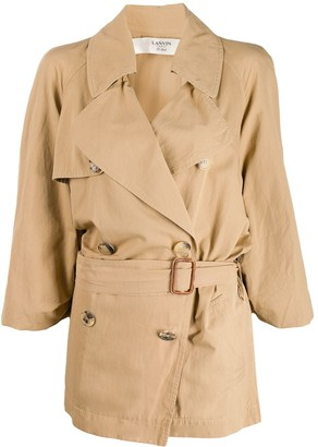 LANVIN Pre-Owned 2007 Belted Trench Coat