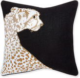 Jonathan Adler Animalia Beaded Leopard Throw Pillow