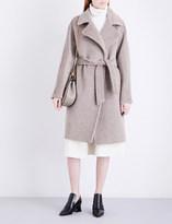 Max Mara Genzana alpaca and wool-blend wrap coat