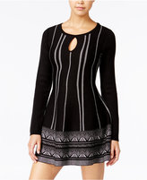 One Hart Juniors' Keyhole Fit & Flare Sweater Dress, Only at Macy's