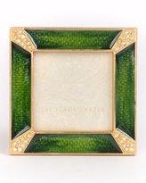 Jay Strongwater Leland Pave Corner Square Frame, Emerald