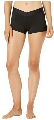 Bloch V Waist Shorts (Black) Women's Shorts