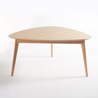 La Redoute Interieurs BIFACE Retro-Style Oak Triangular Table (Seats 6)