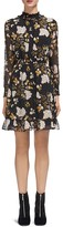 Whistles Belize Botanical-Print Dobby Dress