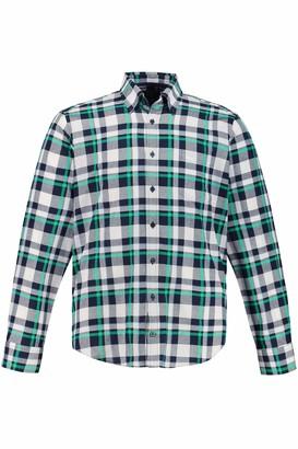 JP 1880 Men's Big & Tall Checked Shirt Kiwi X-Large 723327 47-XL