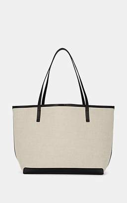 The Row Women's Park Leather-Trimmed Canvas Tote Bag - Natural, Black