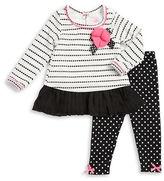 Nannette Girls 2-6x Textured Tunic and Polka Dot Leggings Set