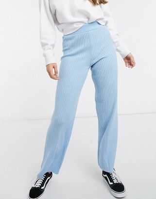 New Look knitted trouser co ord in blue