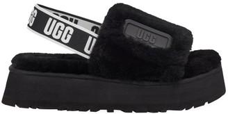 UGG Disco Sheepskin Platform Slingback Sandals