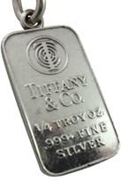 Tiffany & Co. Sterling Silver Troy 1/4 Oz. Ingot Bullion Shackle Key Chain Ring