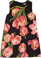 Dolce & Gabbana Tulip-Print Sleeveless Shift Dress