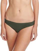 MICHAEL Michael Kors Side-Shirred Bikini Bottom, Green