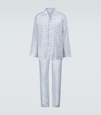 Derek Rose Printed cotton pajama set