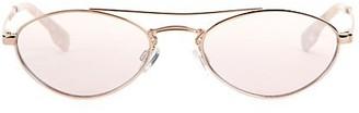 Le Specs Luxe Elliptical Liaison 55MM Browline Oval Sunglasses