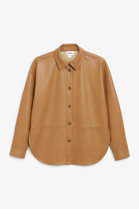 Monki Faux leather shirt