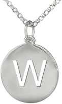 Sterling Personalized Initial Pendant w/ Chain
