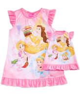 Disney Disney's Princesses Belle, Rapunzel & Cinderella Nightgown with Doll Nightgown, Toddler Girls