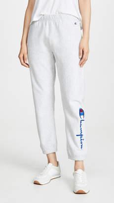 Champion Big Script Elastic Cuff Pants