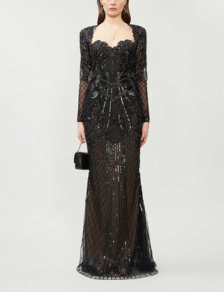 ZUHAIR MURAD Alicante sweetheart-neckline embellished gown
