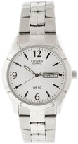 Citizen Quartz Day Date Silver Men