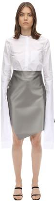 Coperni Cotton Poplin Shirt W/ Extended Sleeves