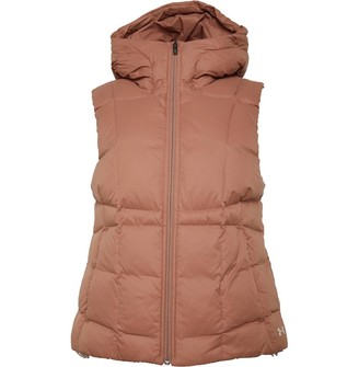 Under Armour Womens Armour Down Hooded Vest Gilet Uptown Brown