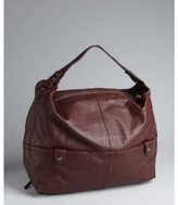 Kooba wineberry pebbled leather 'Crosby' squared hobo bag