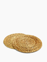 Marks and Spencer Set of 2 Round Natural Placemats