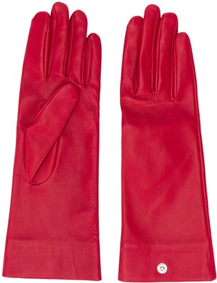 D'heygere Snap Button Leather Gloves
