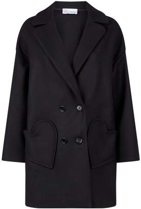 RED Valentino Wool Heart Pockets Coat