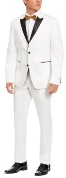 Perry Ellis Men's Slim-Fit Stretch White Peak-Lapel Tuxedo